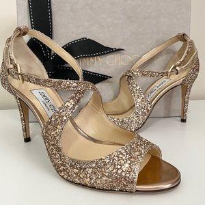 Jimmy Choo Emily Glitter Heels